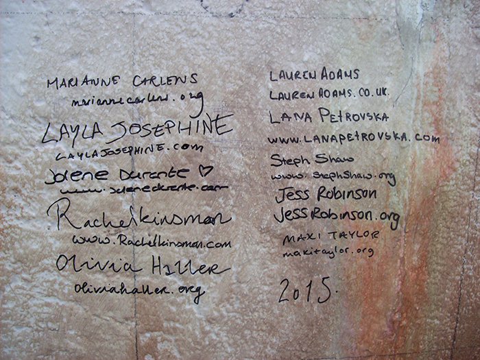 the completed signed wall